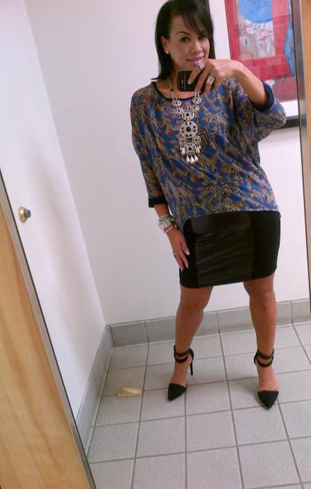 Today's Look: High-Low, Faux Leather & Jodie!
