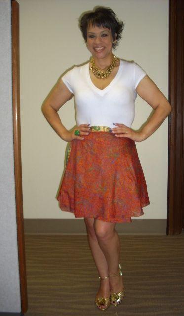 Kariza Silk Wrap Skirt