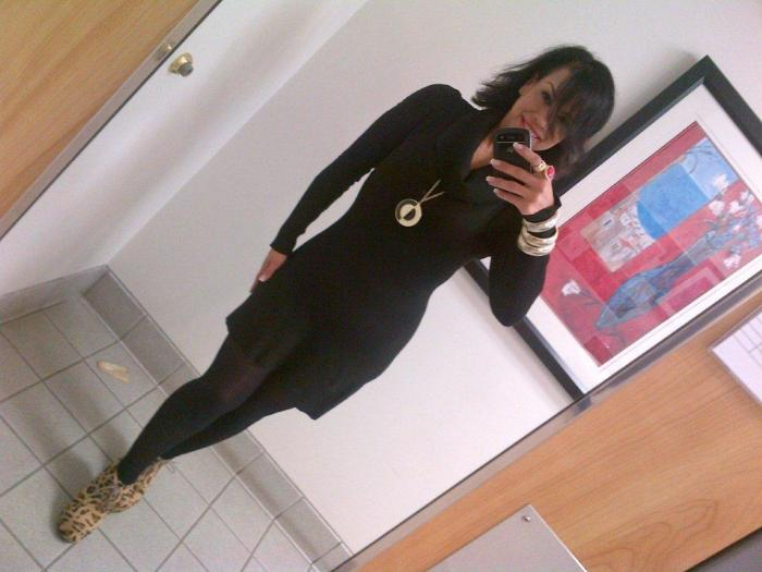 Today's Look: Black, Gold & Leopard!