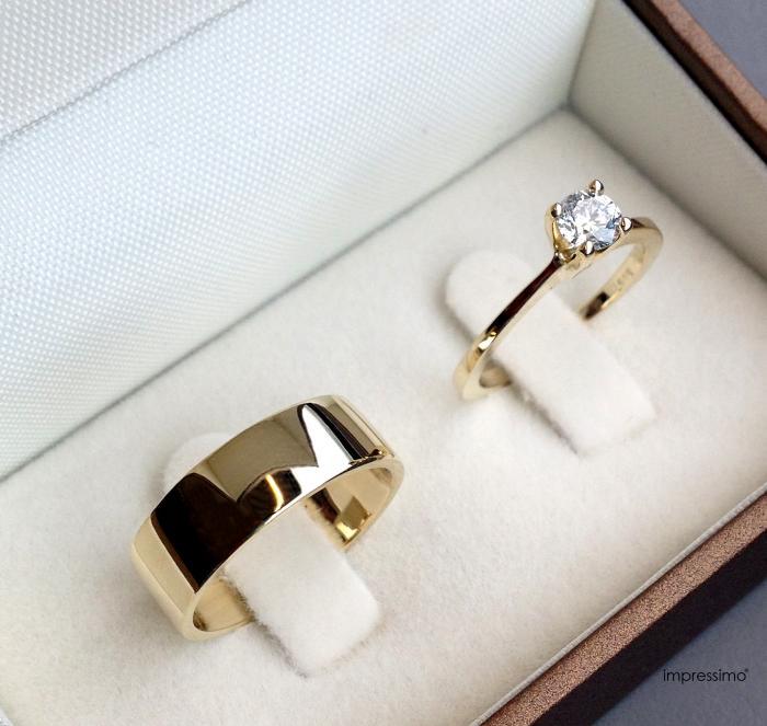 Engagement Ring + Wedding Ring by Impressimo