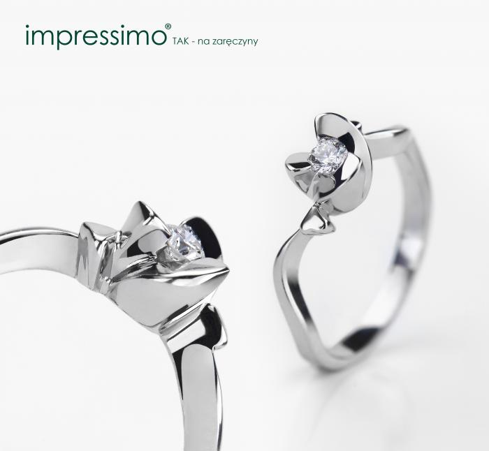 Flower Shape - diamond ring by Impressimo
